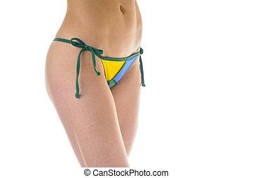 braziliaans, bikini bodem