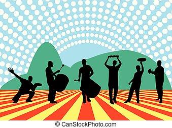 braziliaans, samba, band