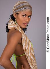 Brazilian beauty - Beautiful brazilian girl standing half...