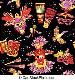 Brazilian Carnival. Vector colorful background.
