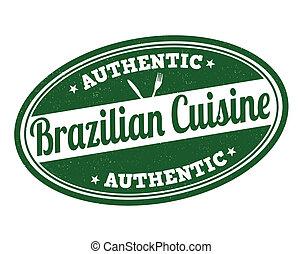 Brazilian cuisine stamp