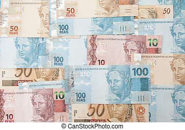 Brazilian Currency - Real - A few bills of brazilian ...