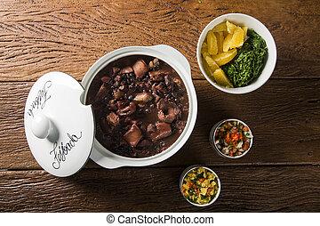 Brazilian Feijoada Food.