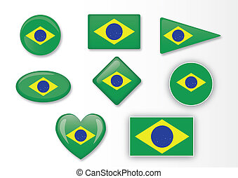 Brazilian flag set