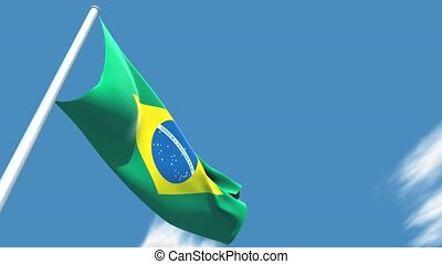 Brazilian flag - This is a very realistic 3D render. The...