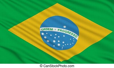 Brazilian flag, with real structure of a fabric