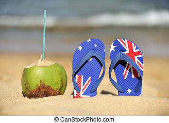 Brazilian Flipflop  with Australian flag