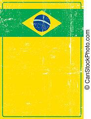 Brazilian grunge poster