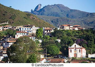 brazilian houses on a hills of Ouro Preto Brazil