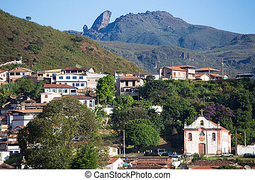 brazilian houses on a hills of Ouro Preto Brazil