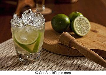 Brazilian Lime Caipirinha