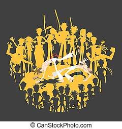 Brazilian Martial Art Capoeira Roda - A Circle of Brazilian...