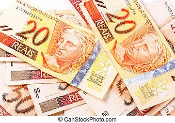 Brazilian money -twenties and fifty reais
