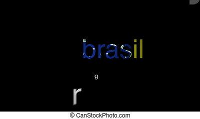 Brazilian Portuguese - Popular Brazilian words arranging...