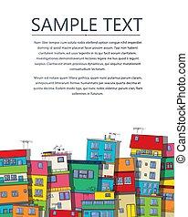 Brazilian slum text card