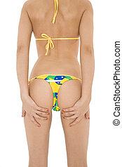 Brazilian Thong - Beautiful and sexy caucasian woman in her...