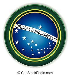 brazilie, knoop, vlag