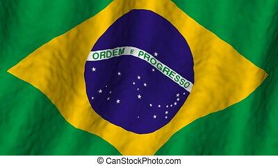 brazilie, looping, achtergrond, vlag