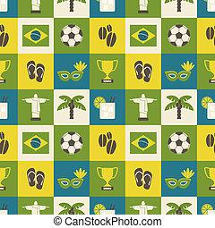 brazilie, seamless, achtergrond
