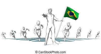brazilie, toekomst, het snelen