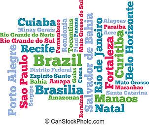 brazilie, woord, wolk