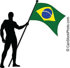 Brazilin Flag Bearer