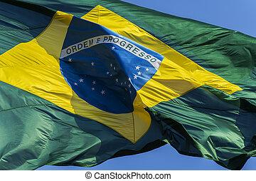 Brazils flag.