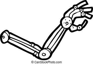 brazo de robot, caricatura