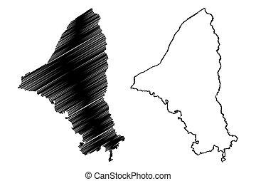 Brazos County, Texas map vector - Brazos County, Texas (...