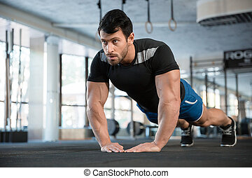 brazos, ejercicio, deportista