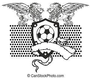 brazos, gryphon, chamarra, futbol, crest6