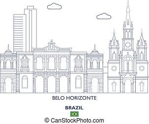 brazylia, horizonte, sylwetka na tle nieba, belo, miasto