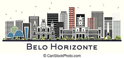 brazylia, miasto, zabudowanie, belo, kolor, odizolowany, ...
