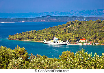 Brbinj village on Dugi Otok island ferry port, archipelago of Dalmatia, Croatia