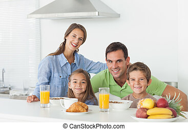 brea, retrato, tendo, cute, família