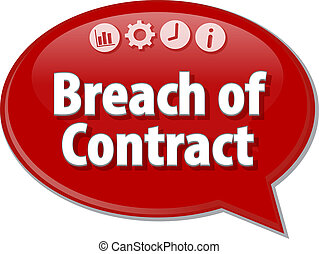 Breach of Contract Business term speech bubble illustration