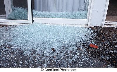 Breached door