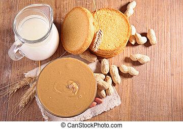 bread, そして, バター, ピーナッツ