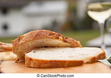 bread, ワイン