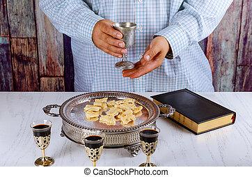 bread, ワイン, 聖餐, 聖書, 祈とう, 秘跡