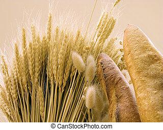 bread, 以及, 小麥