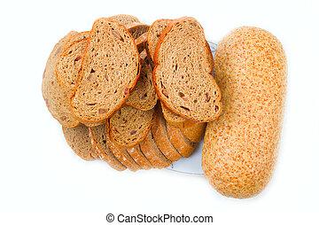 bread, 構成, 隔離された, 白