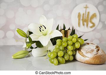 bread, 神聖, キリスト教, 宗教, 聖餐, ワイン