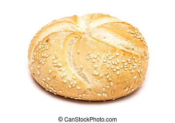 bread, 隔離された, ラウンド