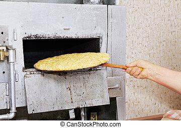 bread, 손, 은 가지고 간다, 오븐, 각오가 되어 있는