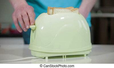 bread, 에서, 그만큼, 토스터, 깔게 된다, 음악, 부엌