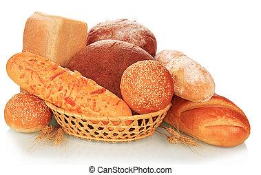 Bread abundance - The bread abundance isolated on white...