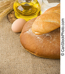 bread and bakery products on sack texture