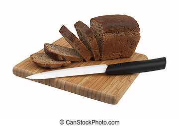 bread and ceramic knife