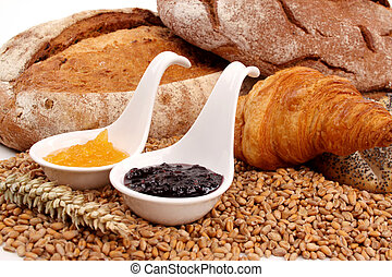 Bread and marmalade - Fresh baked bread with marmalade ...